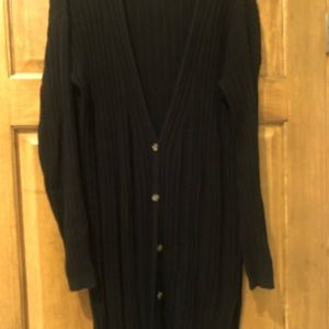 Free people ribbed long duster/cardigan sweater